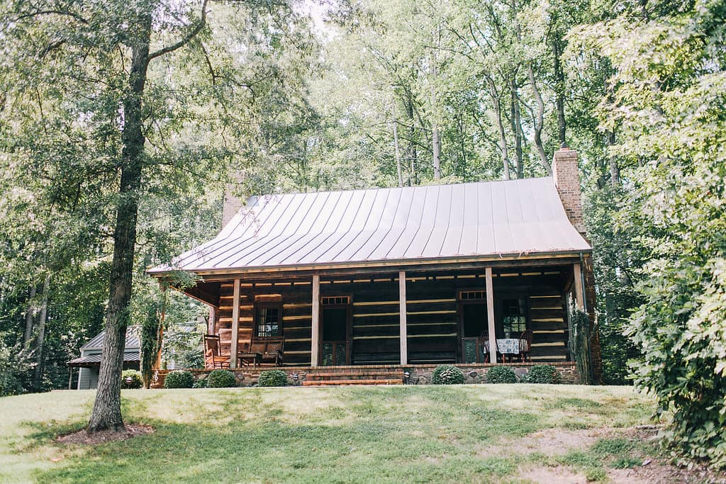 Vintage Log Cabin In Virginia Construction Picture Post