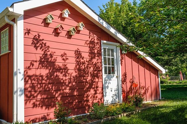 fiber cement siding nails colors hardiplank lowes red plank barn shed
